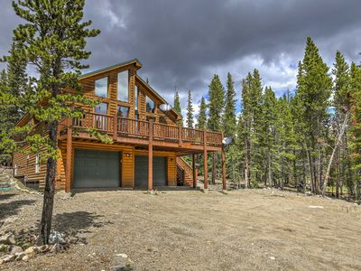 Photo for Fairplay Log Cabin w/Large Deck & Mountain Views!