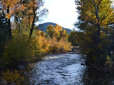 Big Thompson River,  Views of Rocky Mountain National Park Mountains to West