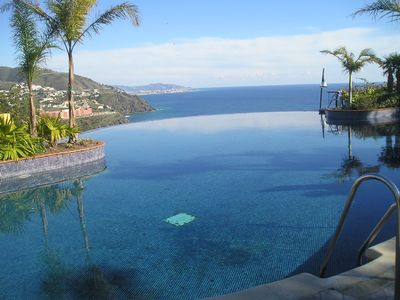 Photo for 2 pools & great views, modern house takes up to 8 or 9