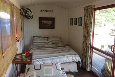 Inside the bunkhouse