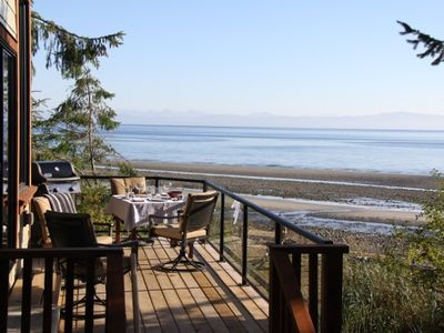 Photo for Spectacular ocean side experience at this stunning 1 berm home, Qualicum Bay