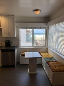 Main Kitchen eating area with view of ocean
