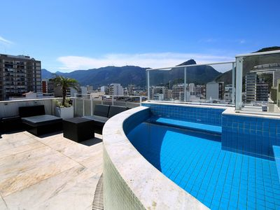 Photo for Rio037 - Classy 3 bedroom penthouse with pool and terrace in Ipanema