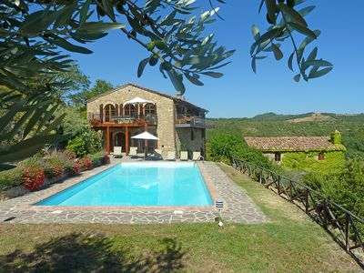 Photo for Le Vignaie - Relaxing villa with incredible views