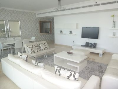 Photo for Stunning 3 Bedroom Apartment with Sea-View.  End of JBR, Dubai Marina