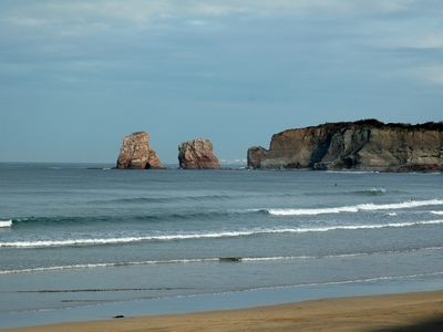Photo for Hendaye, feet in the water, in walking mode