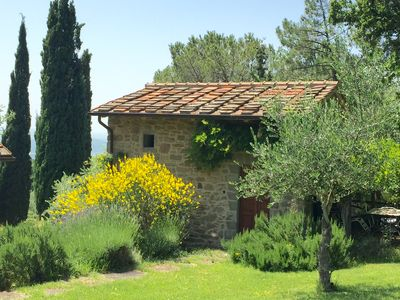 Typical residence with extraordinary panorama and swimming pool between Florence and Arezzo.