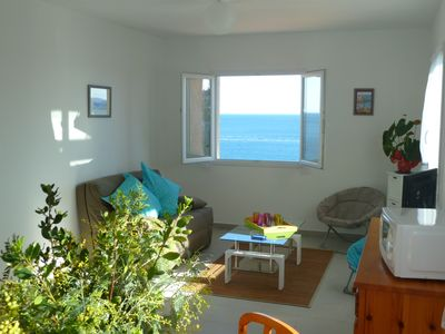 Photo for T2 beautiful sea view in Villa, 200m from the beach Lavasina, 2km Erbalunga