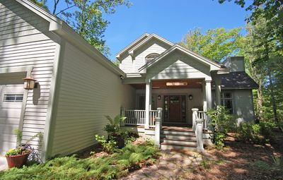 Photo for Mission Style Home in Private, Wooded Setting Close to Downtown Glen Arbor