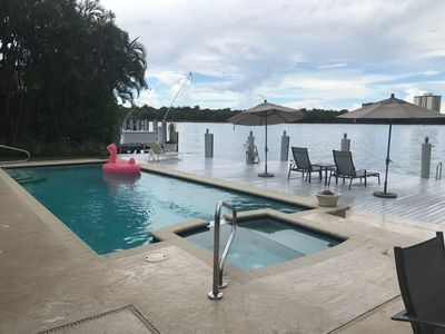 Photo for Luxury Bayfront Intracoastal Pool Home.