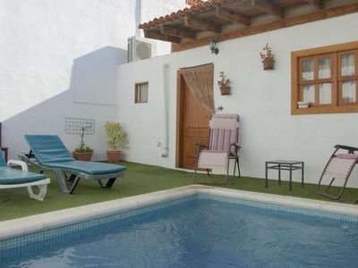 Photo for This 1-bedroom villa for up to 2 guests is located in Granadilla and has a private swimming pool and