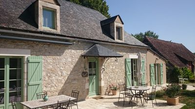 Photo for Near Rocamadour, quiet, lotoise stone house, 3 stars