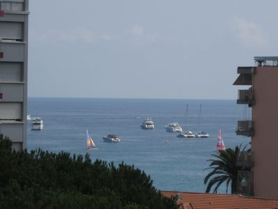 Photo for Quiet luxury apartment, sea view terrace; near beach and shops