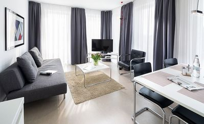 Photo for Spacious apartment in Bauhaus style in a centrally located residential complex