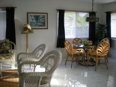 dining area and living room combo  with A/C