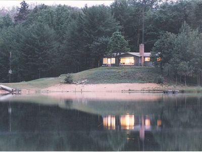 Photo for Cottage with two private lakes, great fishing!