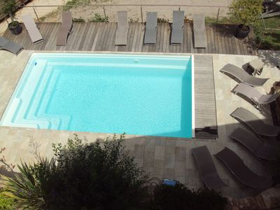 Photo for Very nice villa seen sea south shore with heated swimming pool from May to September