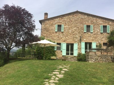 Photo for Double bedroom and private bathroom in a farmhouse 4 km from the center of Todi