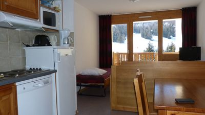 Photo for T2 Apartment, sleeps 4 32 m² At the foot of the slopes and opposite (south-west expo)