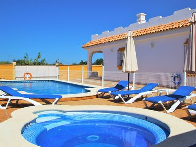 Photo for house for 10 persons, with private pool and Jacuzzi, with barbecue-area at the pool and wifi and aircon in all bedrooms