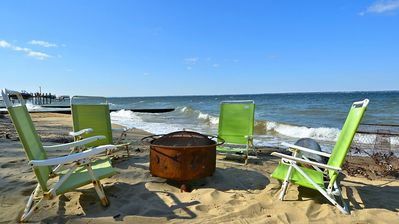 Fire Pit and Beach Looking Downriver