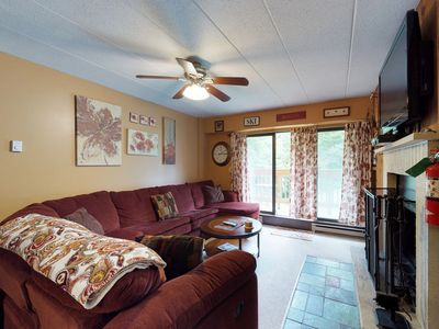 Photo for NEW LISTING! Beautiful condo w/shared pool & hot tub, walking distance to slopes