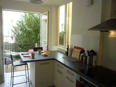 Photo for 2 Bed apartment, sleeping 4-6 in central Céret with beautiful mountain views