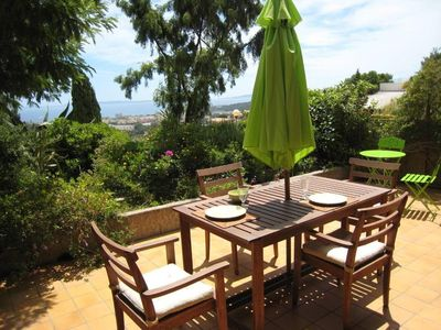 Photo for Residential flat with terrace, garden, view on the sea, privative entrance