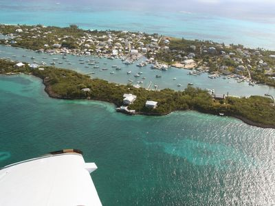 Aynya: The largest house on the highest point of Dickies Cay (middle of picture)