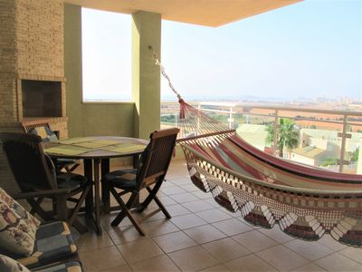 Photo for Two bedroom in Cala Flores with large terrace overlooking the Mar Menor
