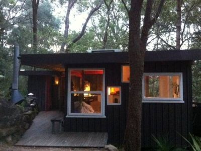 Photo for A RIVER SHACK . Luxury Glamping . ARRIVE BY BOAT . Just For Two . OUTDOOR FIRE