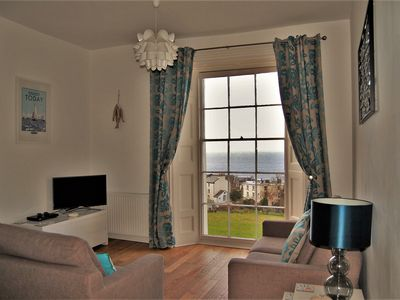 Photo for On the Rocks, fantastic sea views, near to the harbour & beaches, free parking