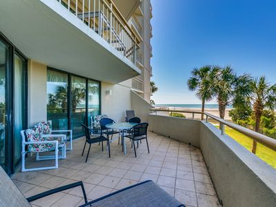 Photo for Oceanfront 3-BR Condo in S. Tower (Side) - Wi-Fi, Pools, Beach Bar & More!