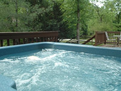 Photo for Spring Discounts!! Firepit, pool table, Hot Tub, Fishing, Creek, Pigeon Forge