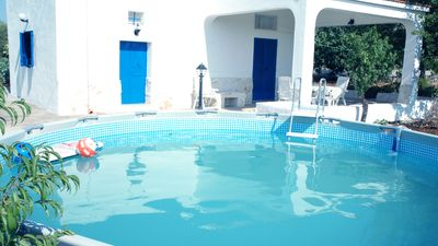 Photo for Detached villa with private above ground pool. Beautiful location near to beach