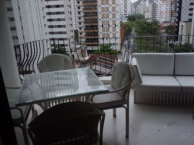 Photo for Guaruja Pitangueiras apartment with terraces, near the sea, 140m2