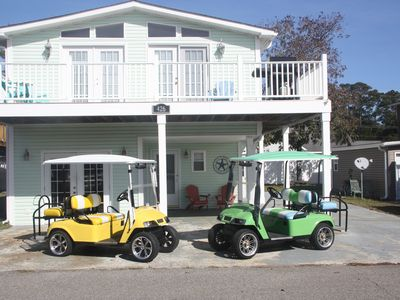 Photo for Beach Living at its Best... Beautiful Beach Home with WiFi & Golf Cart