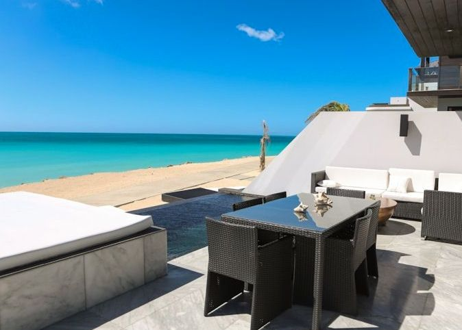 Beachfront 3 bedroom townhouse at Ffryes Beach