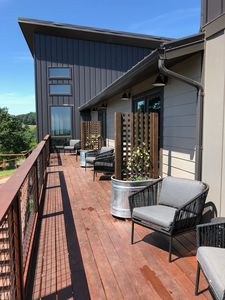 Guest room deck, connects each room to vineyard views