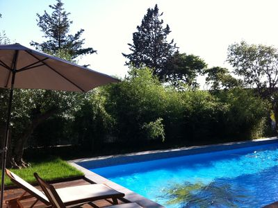 Photo for Charming country house, 5 bedrooms, 3 bathrooms, triple room, secure pool and garden 1700m2
