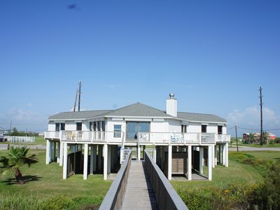 Photo for 5 Bdr./ 3 bath * W. Galveston Beachfront house