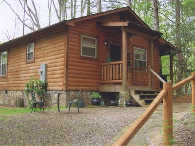 Photo for Private, Secluded in woods on creek, borders park! Pets OK! 20 min Gatlinburg