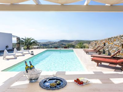 Photo for Elegant Villa Petra, Thea and a  guest house with a swimming pool and sea view