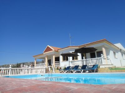 Photo for Fabulous family, one-level villa on a large plot with amazing sea view.