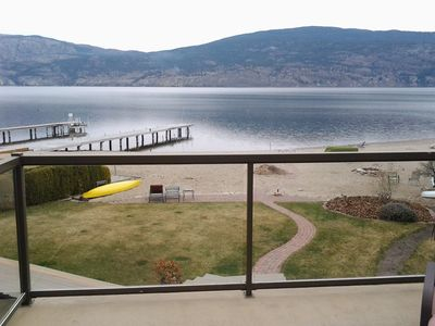 Photo for Right On Lake Okanagan! Modern Beach House In Wine Country!
