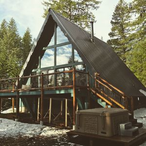Photo for Skiing/Hiking/Fishing year round fun-family friendly frame spacious cabin hottub