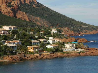 Photo for Villa at Antheor - Stunning Esterel views, steps from the beach,  pool