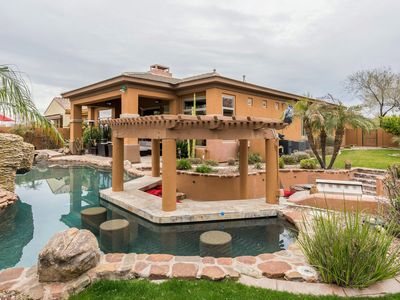 Photo for Resort-Style Home w/ Heated Pool, Hot Tub, Outdoor Kitchen & Swim-Up Bar