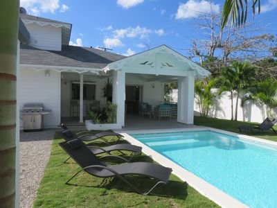 Photo for New Caribbean Villa Pool / Jacuzzi / 200M Beach / Wifi