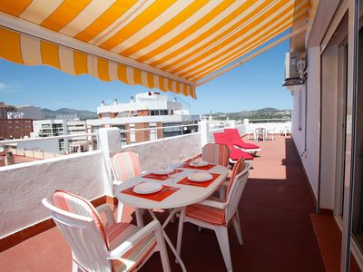 Photo for Sunny Penthouse 45m2 Roof Terrace - 200 m to the Beach